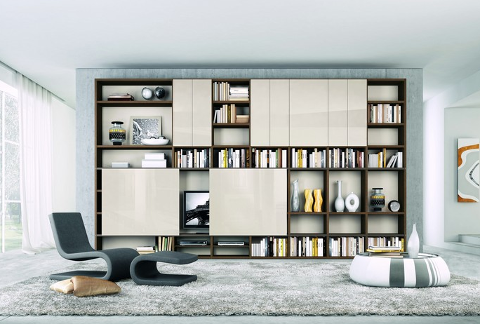 Contemporary Home Library home library design with modern interior decoration. for those of