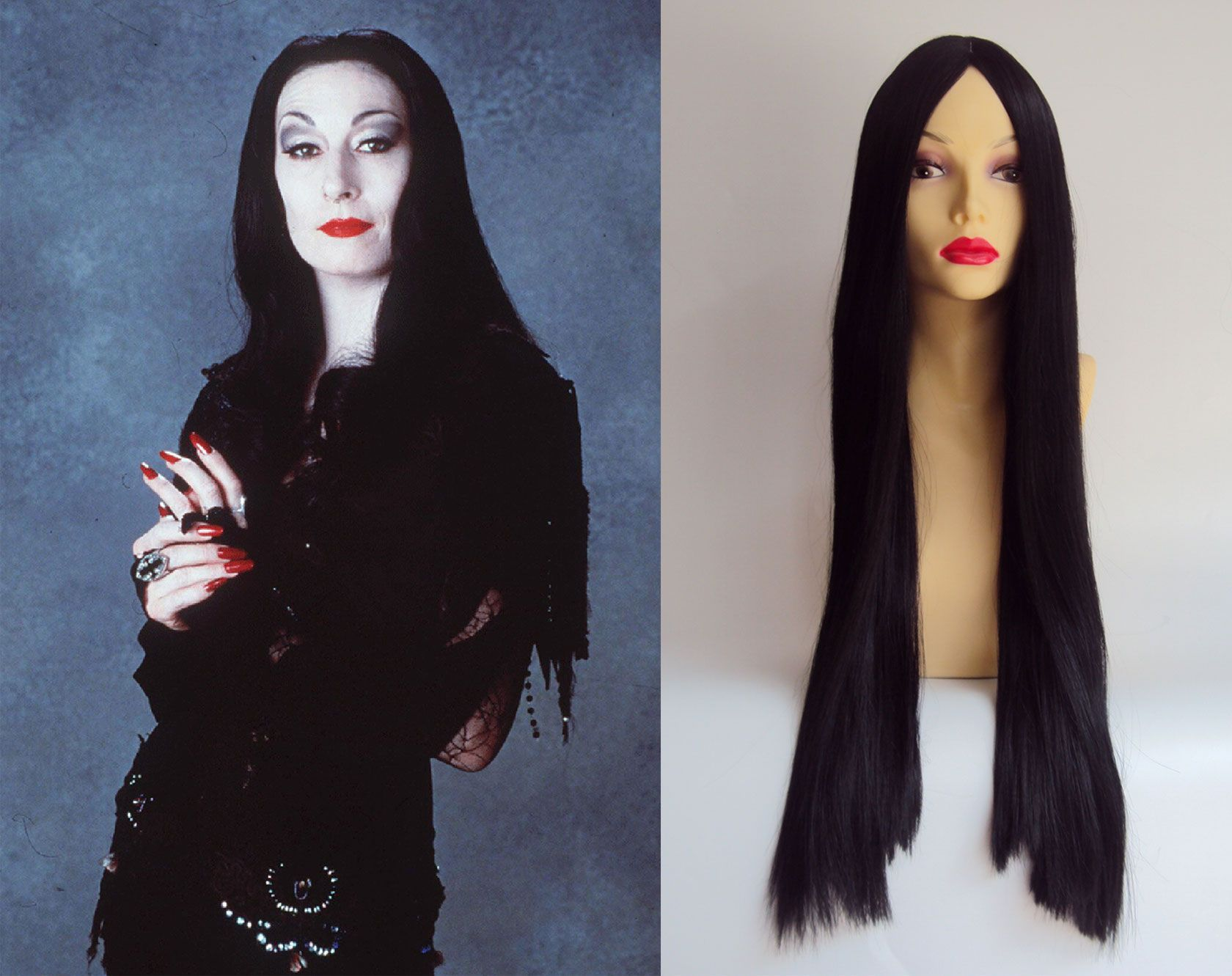 Wedding decorations rental october 2018 Morticia Addams Costume Wig  coupley shit  Pinterest  Morticia