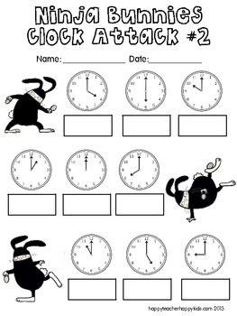 Ninja Bunnies Clock Attack! | nice maths stuff | Pinterest | Clocks ...