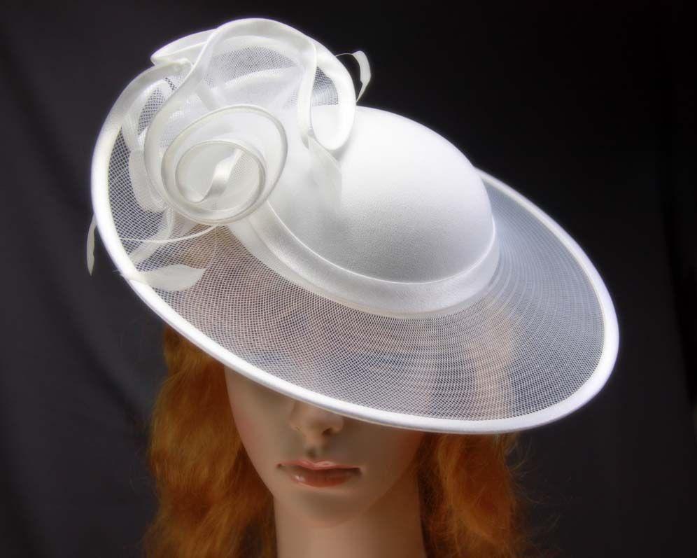 White wedding ladies fashion hats buy online a9faaf3f1bc