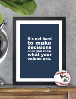 It's not hard to make decisions once you know what your values are!