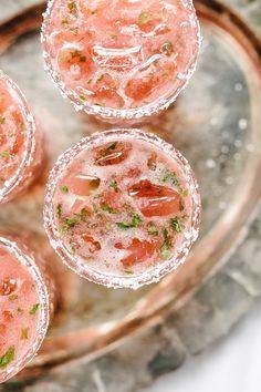Photo of Strawberry Basil Margarita Summer Cocktail