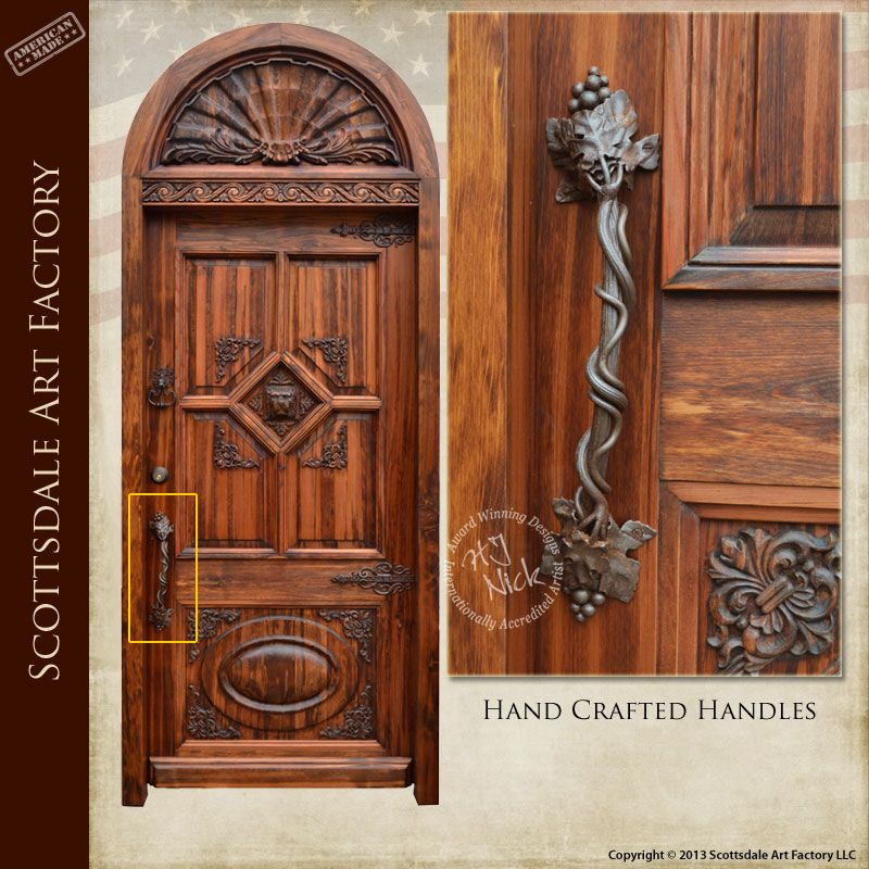 Custom door handle, hand crafted by master blacksmiths using hand ...