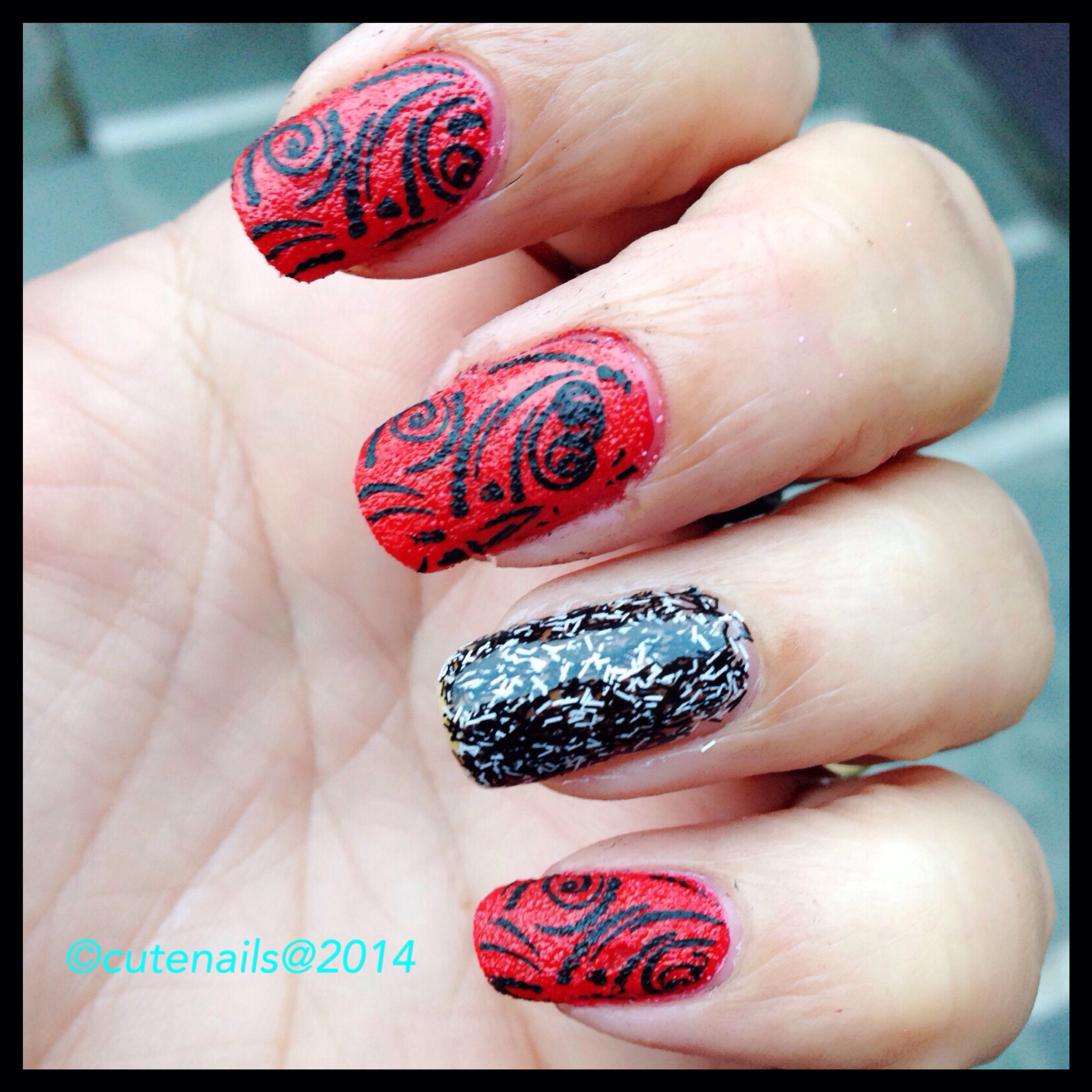 My Fifth Nail Art For New Year My Nails Pinterest