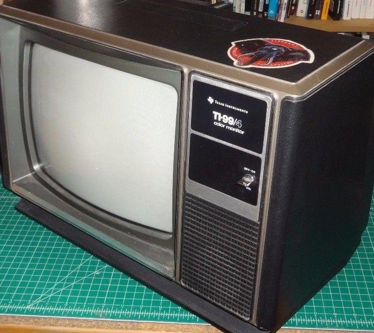 Ti 99 4 Color Monitor Aka A Television Video Game Cabinet
