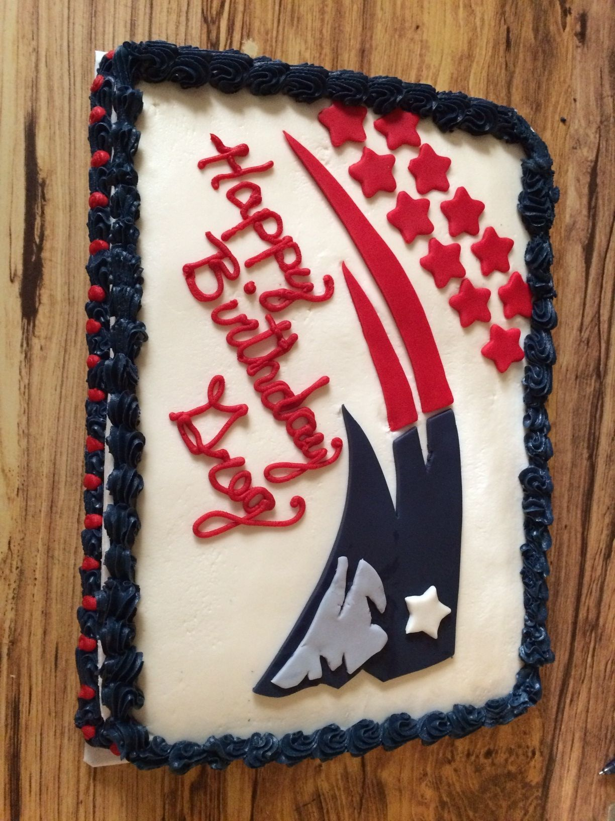 Patriots Birthday Cake Cakes Cupcakes Cookies Pinterest