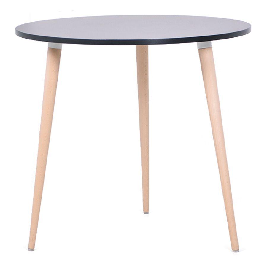 Table Ronde Scandinave Bois Pour Espace Cafe Cuisine Fait En