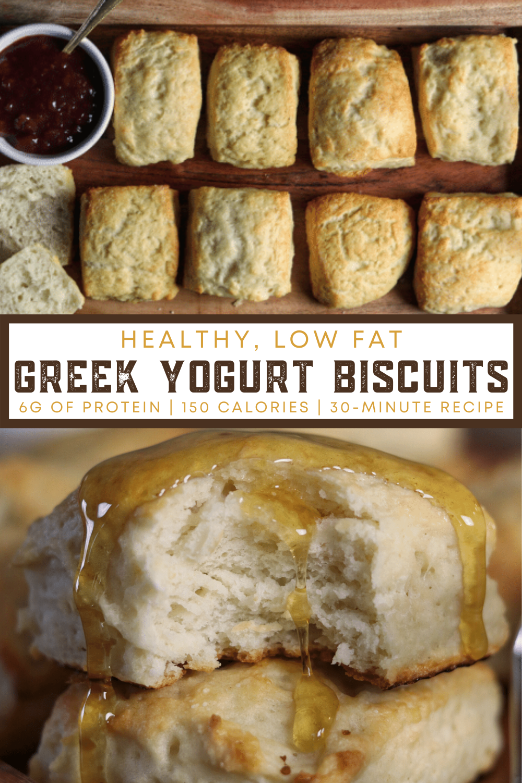 Healthy, Low Fat Greek Yogurt Biscuits