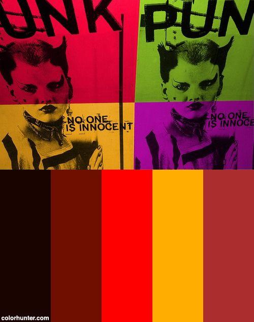 Punk Pop Art Color Scheme Colors 8 In 2019 Pop Art Colors Color