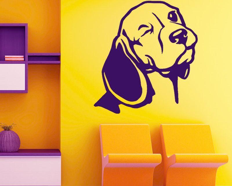 Wink Wink Beagle Dog Wall Decal Vinyl Sticker Home Decor Price