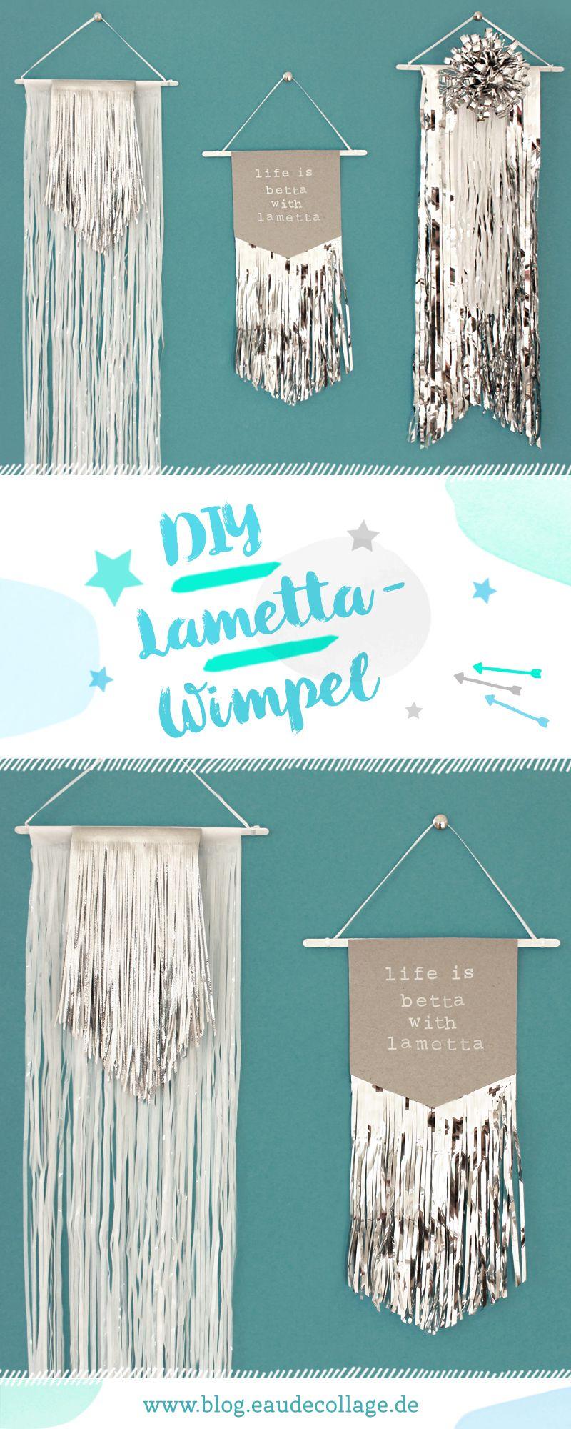Weihnachtsdeko Lametta.Diy Lametta Wimpel Weihnachtsdeko Basteln Diy Blog Eau De