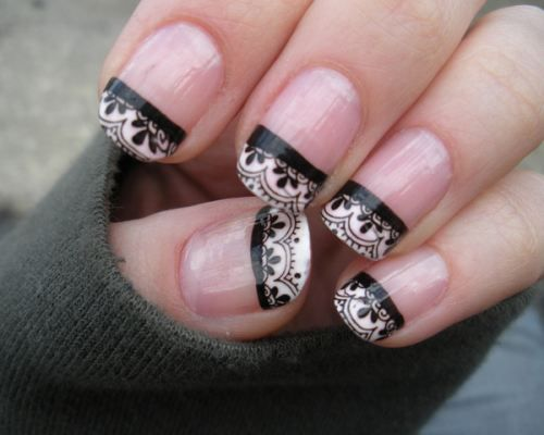 lace french tips