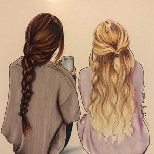Photo of Mutter und Tochter – Modeillustration – Mutter und Kind – Mutter und Tochter – Geschenke für …