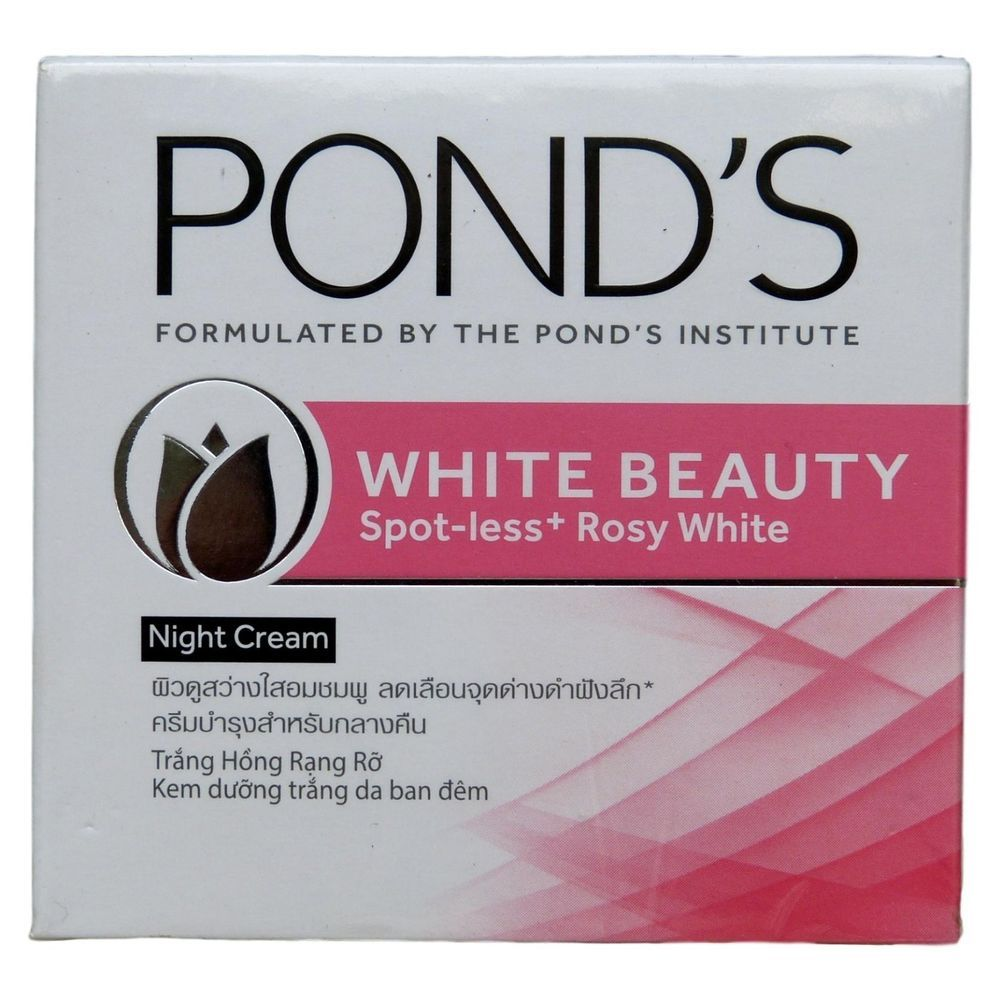 Details About Ponds White Beauty Spotless Rosy Whitening Night Flawless Dewy Rose Gel 50 G Cream Grams