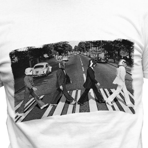 d2c48e6a1 Beatles Abbey Road Star Wars Mash Up T-shirt by FunnyGeekStuff ...