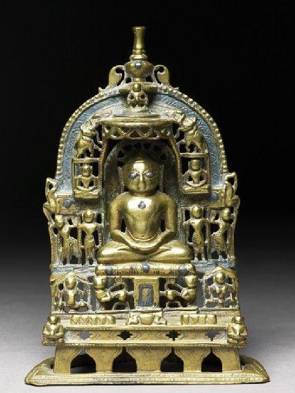 Shrine depicting the Tirthankara Kuntunatha Rajasthan, 1470