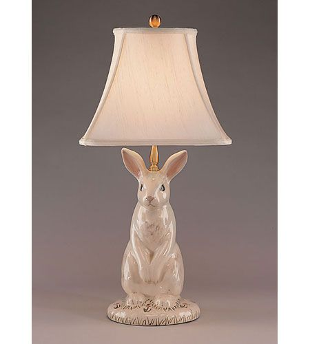 Wildwood Lamps 10165 Dignified Rabbit 30 inch 100 watt Hand Painted  Porcelain Table Lamp Portable Light - Wildwood Lamps 10165 Dignified Rabbit 30 Inch 100 Watt Hand