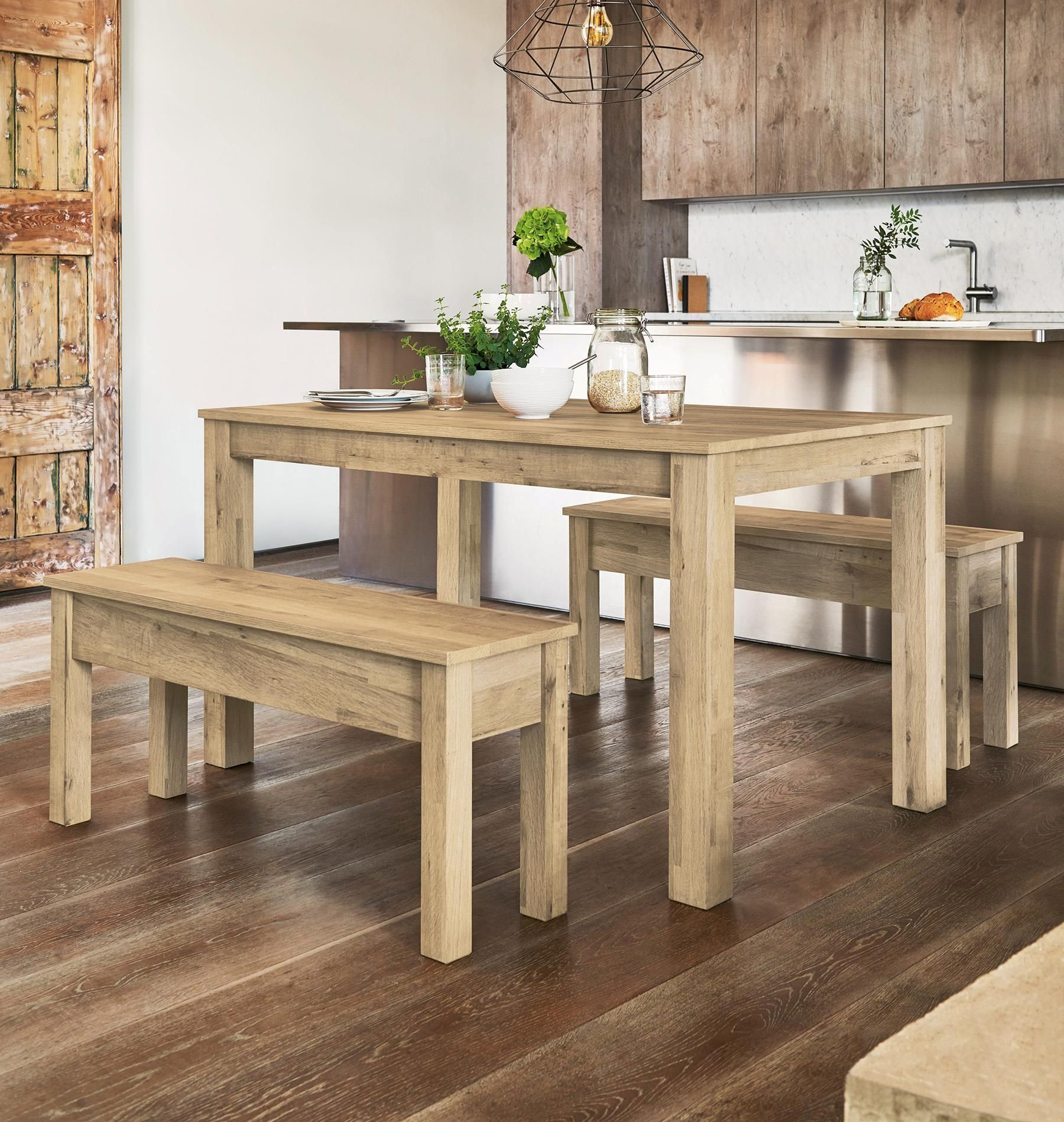 Buy Bronx Light Dining Table And Bench Set From The Next Uk Online