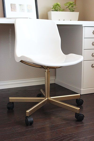 desk chairs ikea caper stacking chair hack make the 20 snille look like an expensive office money saving sisters