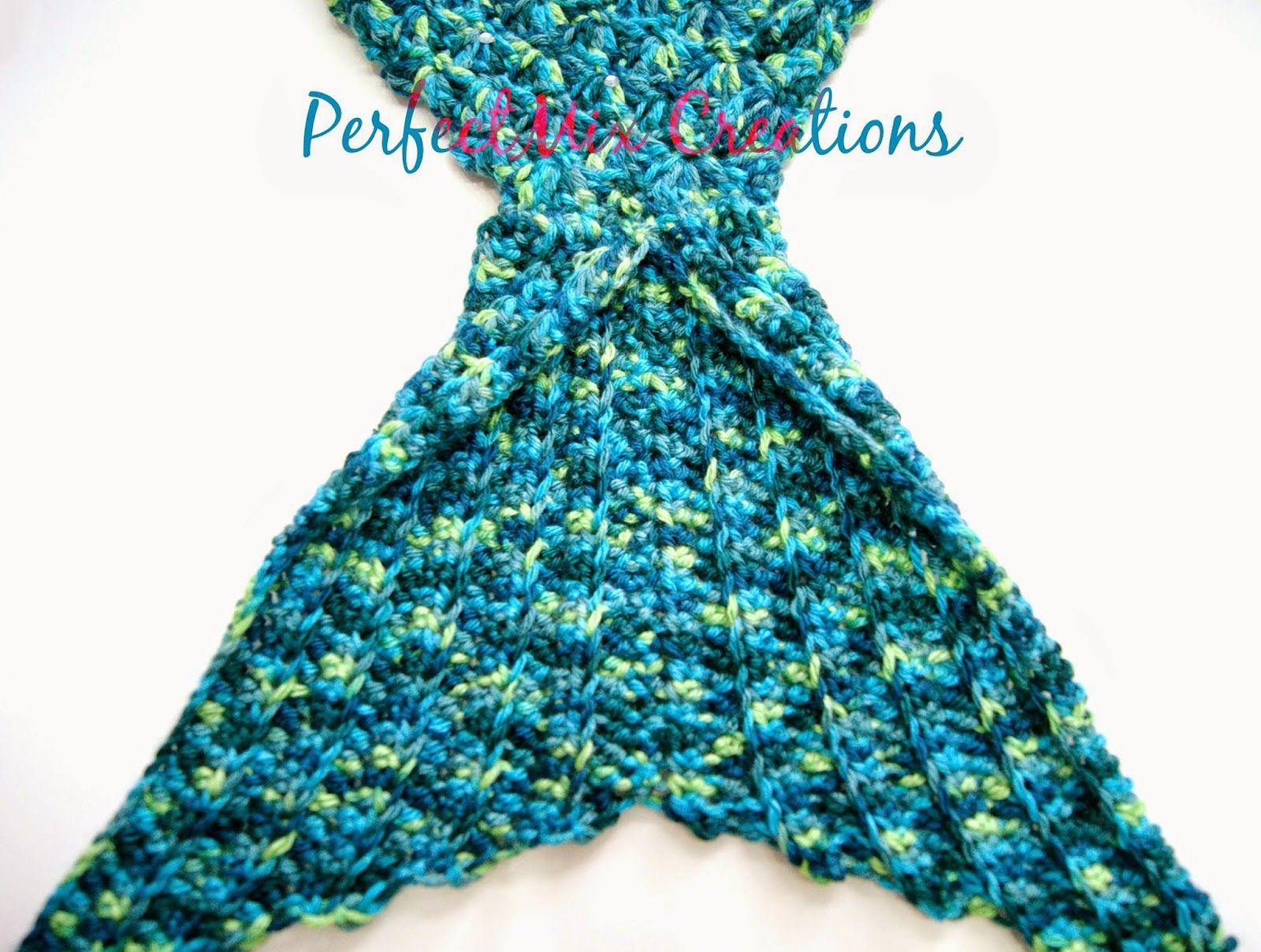 Crochet Mermaid Tail Fin Pattern Calda de sereia em croche pap ...