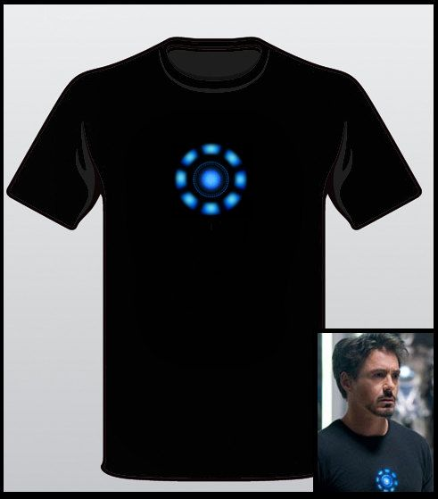 The Avengers T-Shirt Tony Stark Arc Reactor Iron Man Loki Thor Hulk Tee  Sizes  S-XL.  13.99 74a6752f147