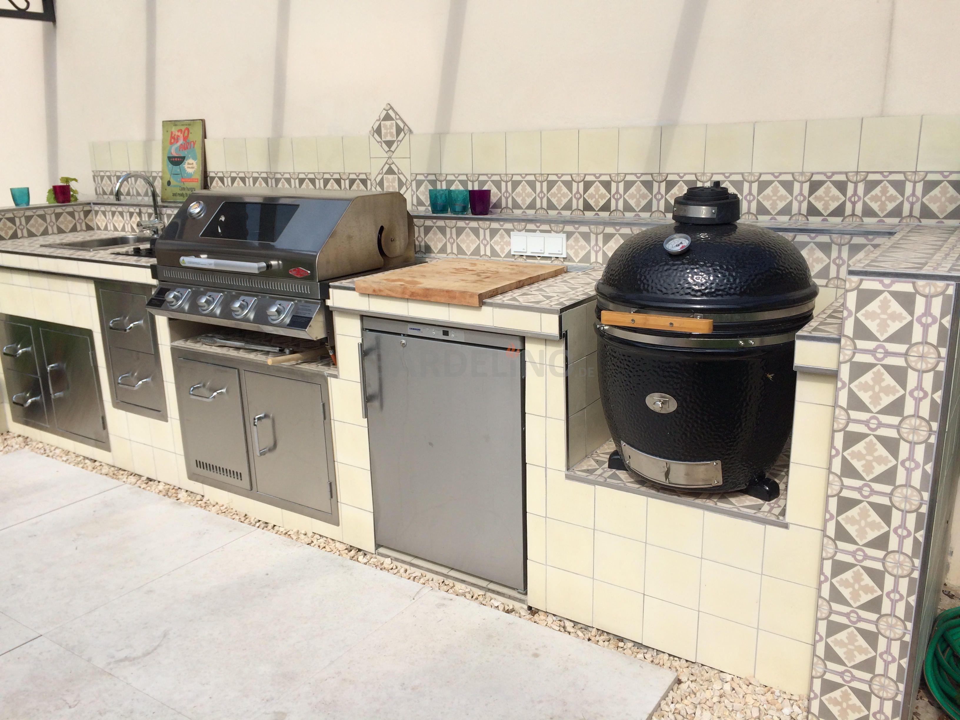 Idee Mediterrane Outdoorkuche Outdoor Kuche Outdoor Kuchen Ideen Eingebauter Grill