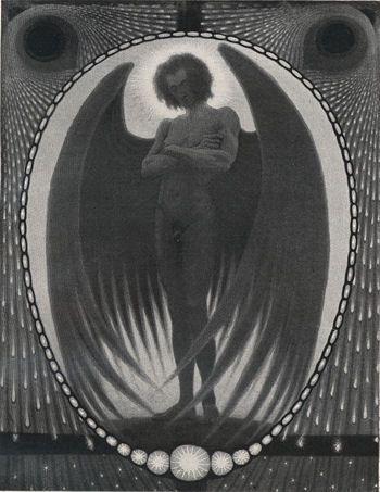 """Grollender Luzifer"" by Fidus (1904) 350 x 453"