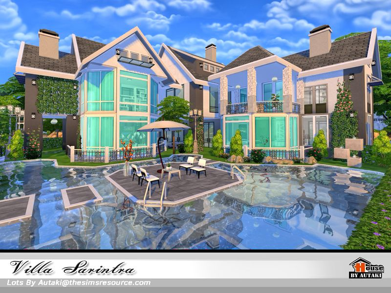 Villa Sarintra Nocc Found In Tsr Category Sims 4 Residential Lots
