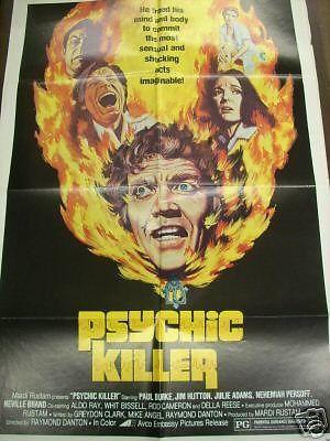 Movie Poster Jim Hutton Psychic Killer F37