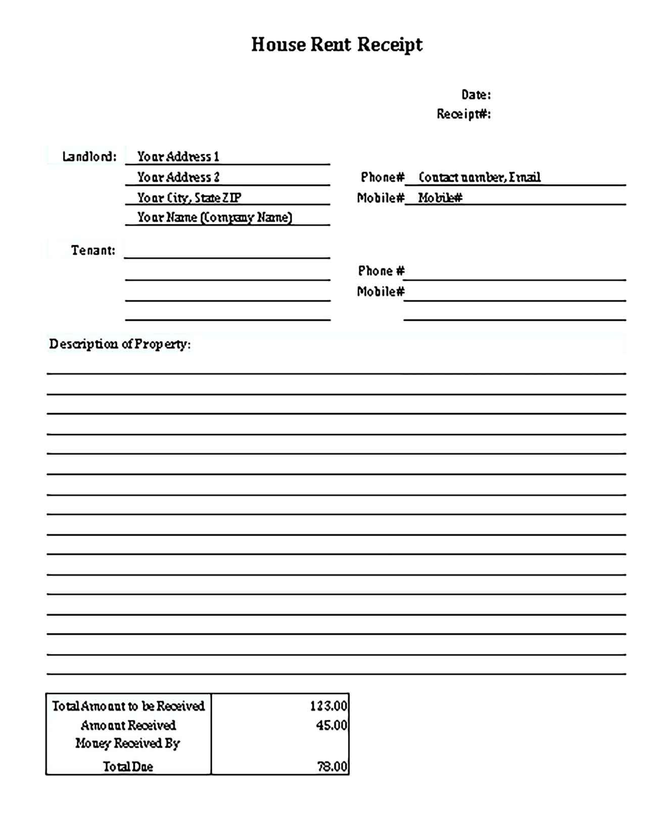 Printable Cash Receipts Receipt Template Business Template Receipts