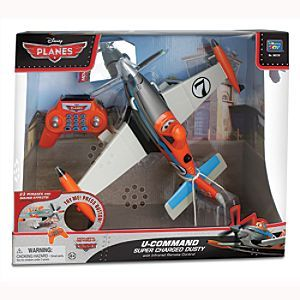 Disney Dusty U-Command Remote Controlled Driving Plane | Disney StoreDusty U-Command Remote Controlled Driving Plane - Let the thrill of the skies land on the playroom floor. This remote controlled driving toy of Dusty from Planes travels forward and in reverse, and features moving eyes and a spinning propeller.