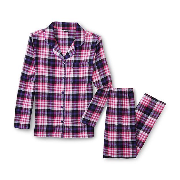 Joe Boxer Women's Flannel Pajama Shirt & Pants - Plaid