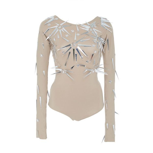 Triya Body Stars Long Sleeve Maillot ($1,090) ❤ liked on Polyvore featuring tops and triya