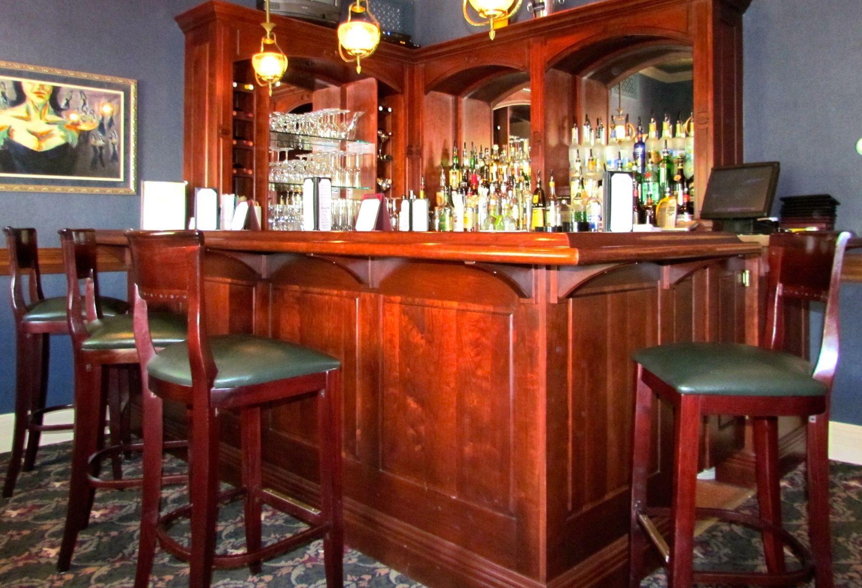Custom Made Cherry Wood Bar