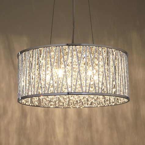 John Lewis Emilia Drum Crystal Pendant Light Online At Johnlewis