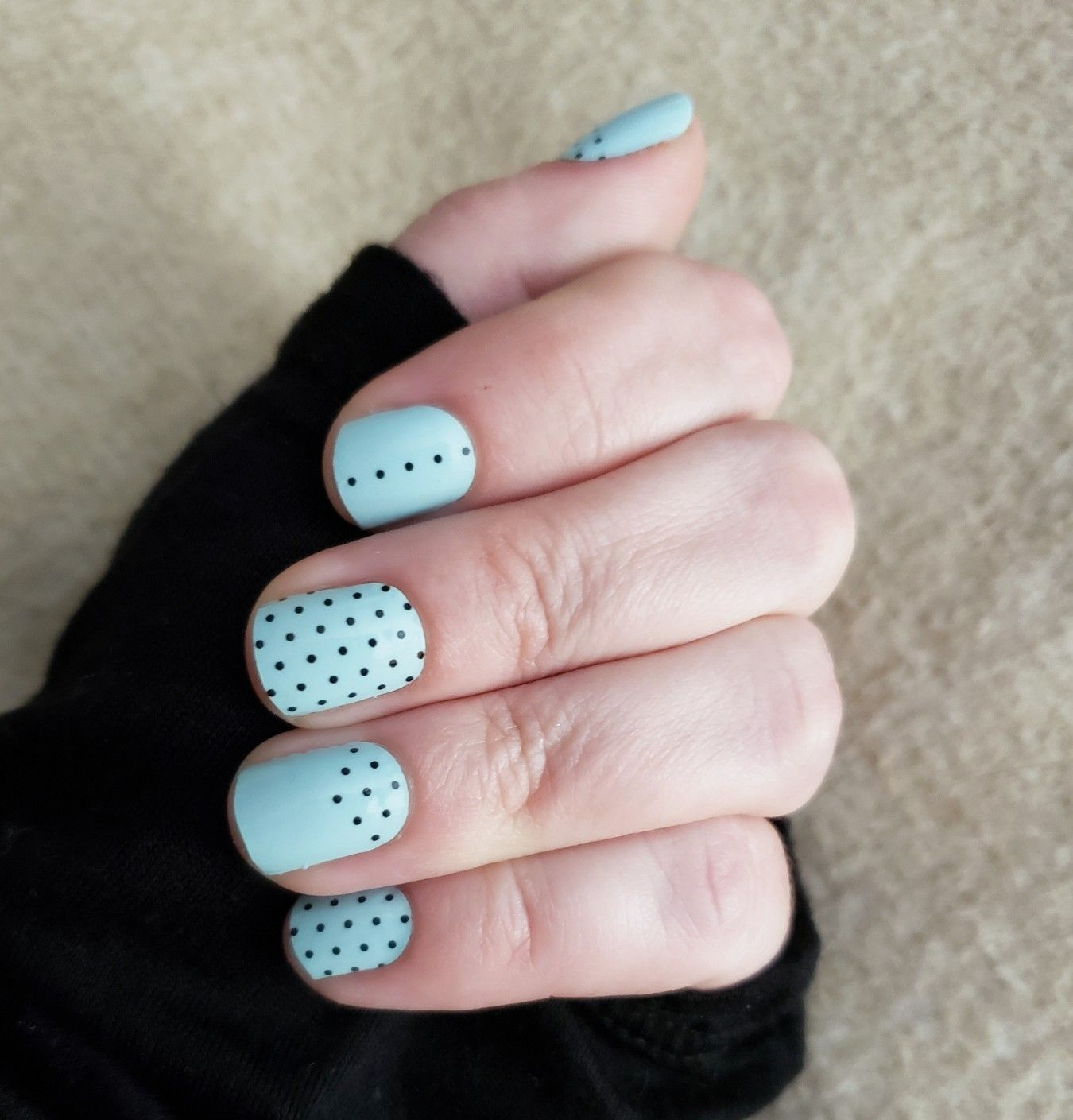Mint Nails with Polka Dots - Color Street Nails - I've Dot ...