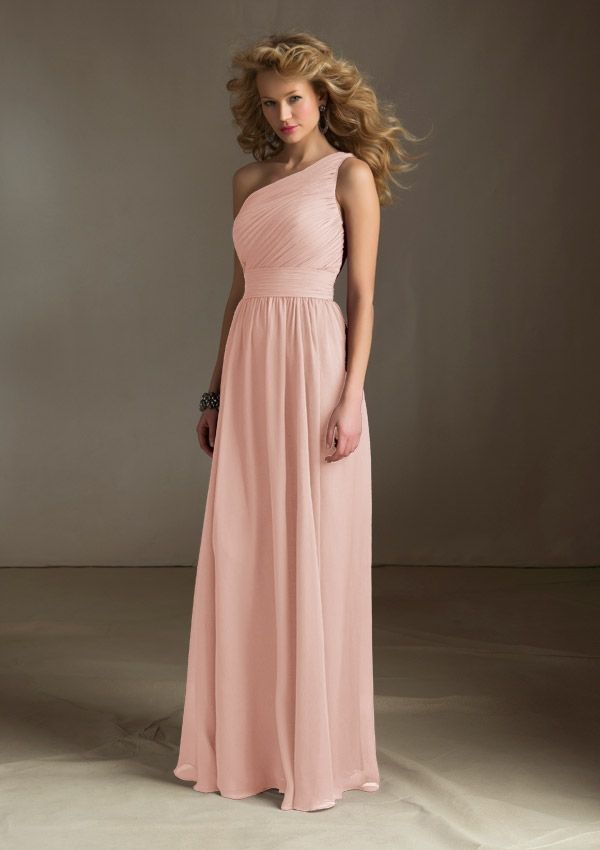 Lux Chiffon Champagne Dresses