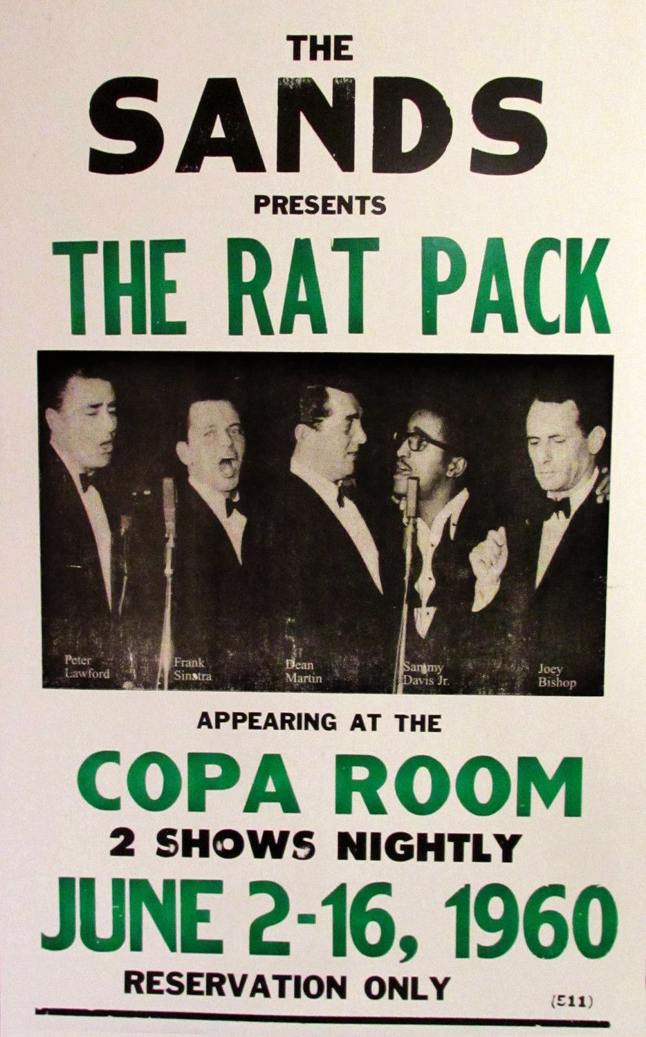 The Rat Pack At Sands Copa Room Poster 1960