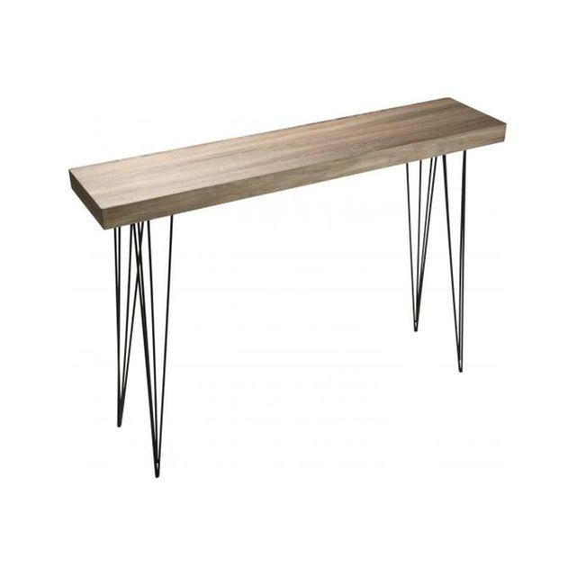 Table console d entrée épurée design et pieds graphiques métal noir Versa  VERSA 40730e164bb2