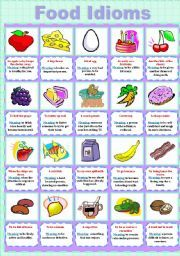 Worksheets Worksheet Idioms Food english worksheet food idioms ideas for the house pinterest idioms