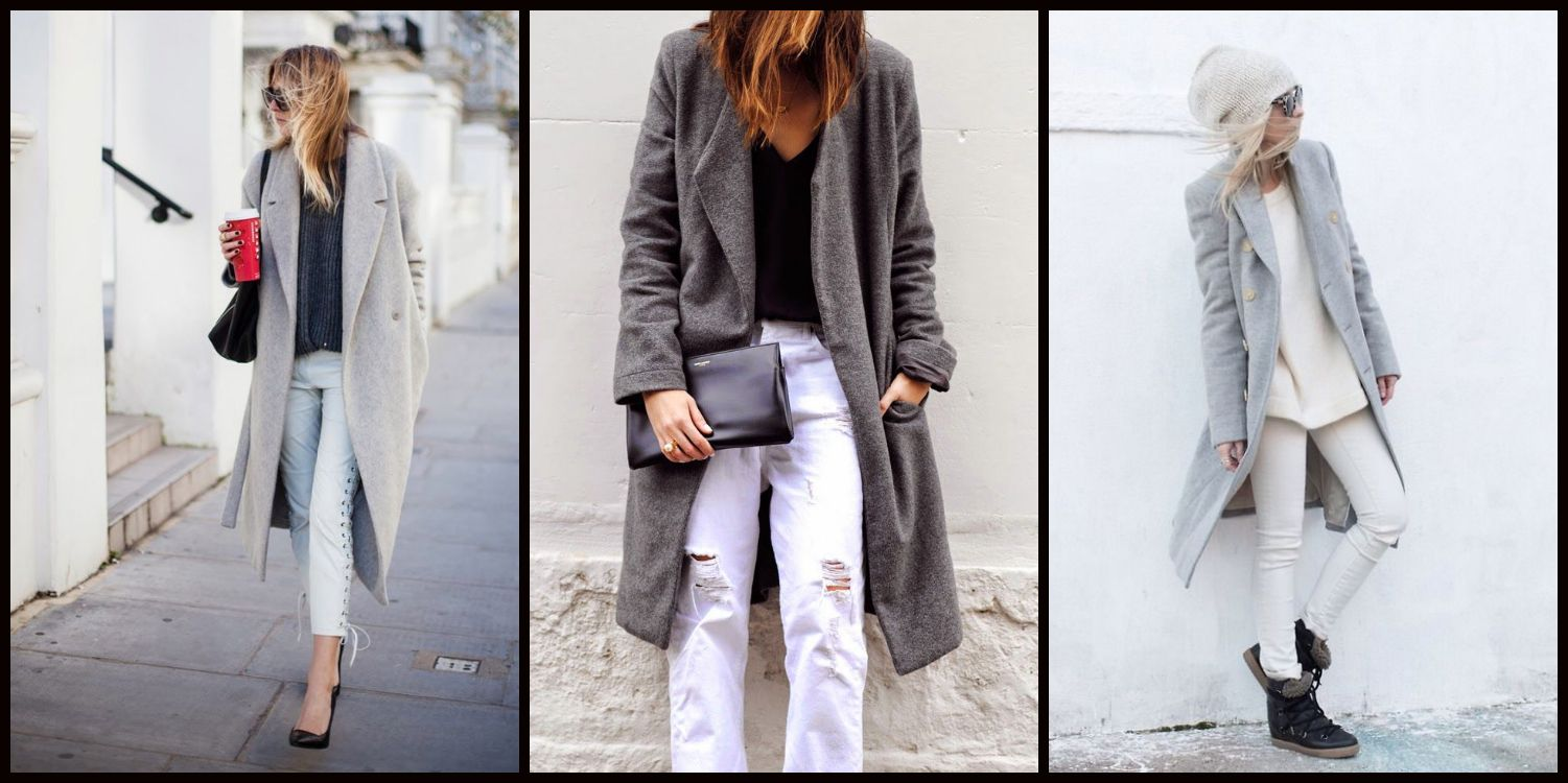 White Denim×Gray