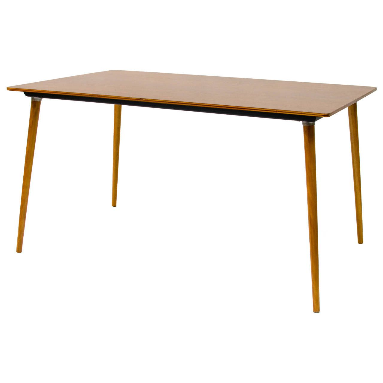 Eames Dtw 3 Wood Leg Dining Table 1stdibs