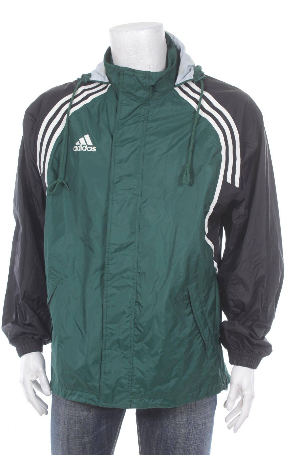 2d147dac6d214 Vintage 90s Adidas windbreaker jacket Multicolor Green/Black/White ...
