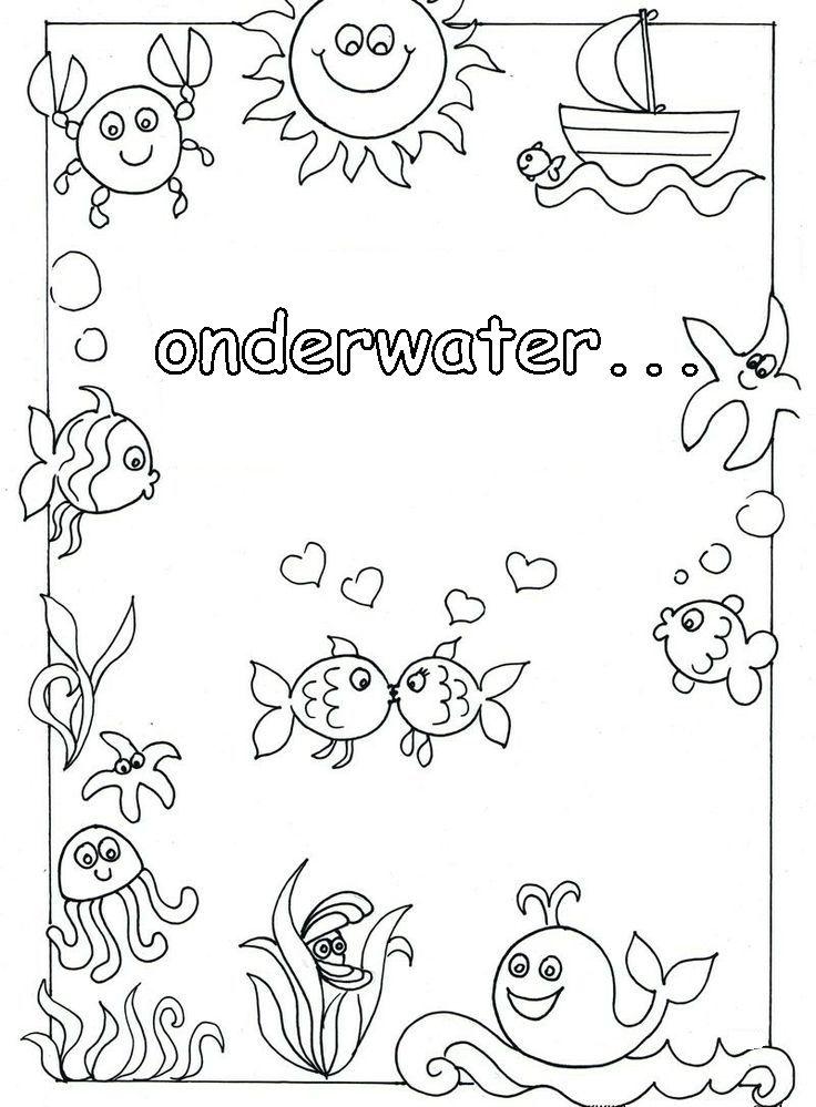 Afbeeldingsresultaat Voor Waterdieren Kleurplaat Groep 3