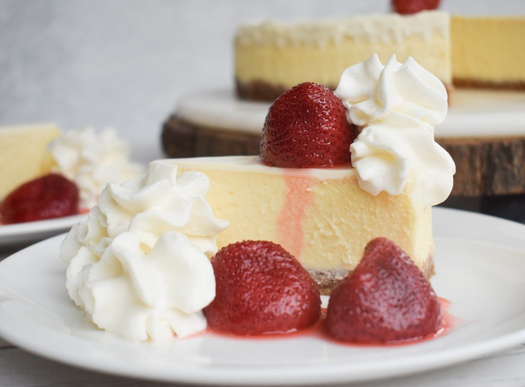 Low-FODMAP 'Copycat' The Cheesecake Factory Original Cheesecake; Gluten-free, Lactose-free