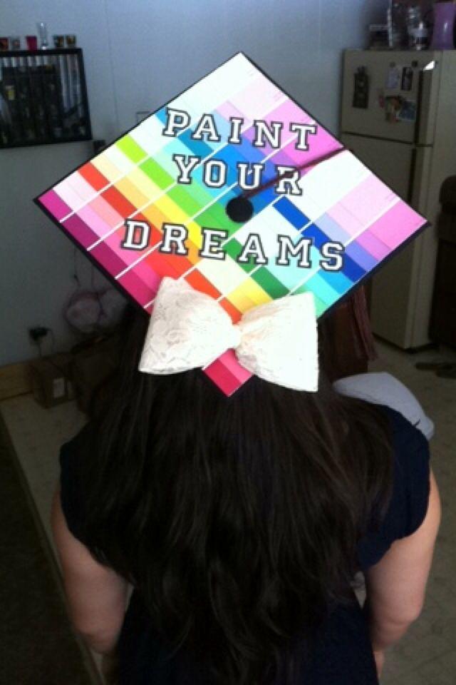 Graduation Cap! Paint Your Dreams!! Interior Design Degree
