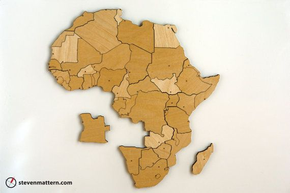I love it i want a magnetic wall with the whole world africa map africa map puzzle birch plywood by stevenmatterndesign on etsy gumiabroncs Images