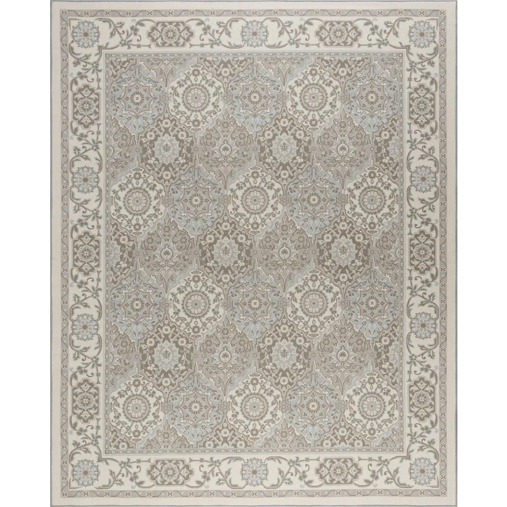 Tayse Rugs Majesty Taupe 8 Ft 9 In X 12 Ft 3 In Area Rug