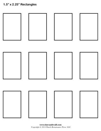 Rectangle Templates - 15 Inch - Tim\u0027s Printables My classroom