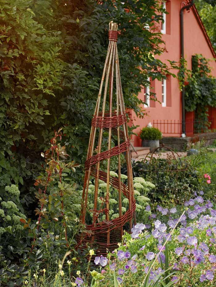Gartendeko Aus Weidengeflecht, rankhilfe spiral-obelisk aus weide | gartendeko | pinterest | garden, Design ideen